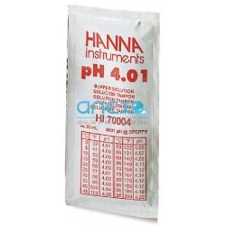 pH - Solution avec Certificat - Boite de 25 sachets de 20 ml (HI70007)