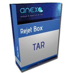 REJET TAR Box Analyse d'eau de Rejet sur purge de TAR