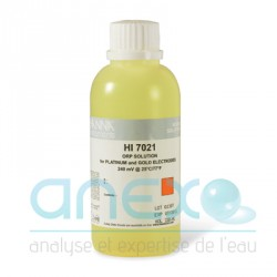 REDOX Solution d'étalonnage et de calibration ORP 240mV 500 ml (HI 7021L)