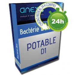 Analyse de Potabilité de l'eau Type Bactérie D1
