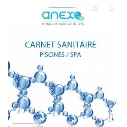 """Carnet Sanitaire PISCINE/SPA """"Saisonnier"""""""