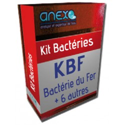 "Kit ""KBF"" - ANALYSE BACTERIE DU FER + 6 bactéries"