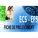 Fiche de prélèvement d'eau Eau Chaude Sanitaire ECS-EFS