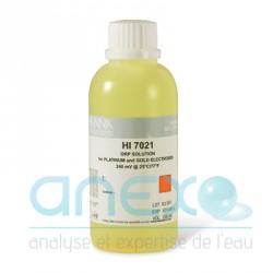 REDOX Solution d'étalonnage et de calibration ORP 240mV 500 ml (HI 7021L)